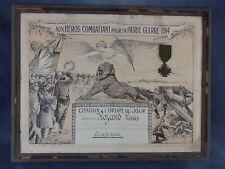 diplome, citation, bataille de Verdun, médaille croix de Guerre