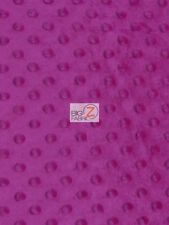 """DIMPLE DOT MINKY FABRIC - Magenta - 60"""" WIDE SEW-SOFT BABY FABRIC RAISED"""