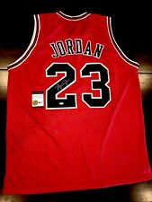 Michael Jordan Autographed/Signed Chicago Bulls Red Jersey With Certificate(COA)