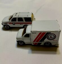 VINTAGE 1998 MATCHBOX FORD EXPEDITION FIRE DEPT. SUV 1:68 - BOX TRUCK LOT OF 2