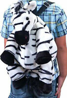 "Backpack 15"" Plush Zebra Safari Wild Animal Girl Boy NEW"