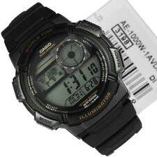 Casio AE-1000W-1A AE1000W-1A AE-1000W-1 Digital World Time Black Resin Watch