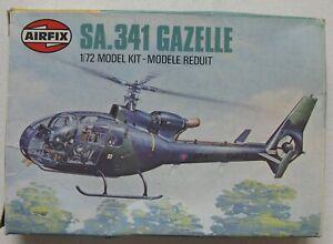 Airfix 1:72 Scale 61059-7 SA.341 Gazelle Helicopter 1981 Model Kit   (B14)