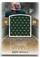 2012 Spx Robert Griffin III Winning Big Materals Jersey RC 119/199 Baylor