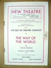 New Theatre Programme 1948 - THE WAY OF THE WORLD by William Congreve, J Burrell