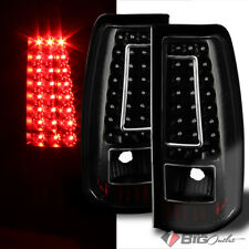 Ver2 For 03-06 Silverado, 05-06 Sierra, 07 Classic Black LED Tail Lights Signal