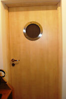 PORTHOLE FOR DOORS STAINLESS STEEL phi 230 mm flat