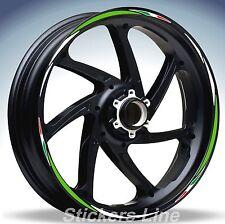 Adesivi ruote moto strisce cerchi KAWASAKI ZX10R Racing 4 sitckers wheel ZX-10R