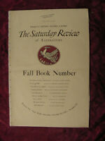 SATURDAY REVIEW October 12 1929 Allan Nevins Ernest Hemingway Ford Madox Ford