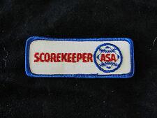 SOFTBALL SCOREKEEPER PATCHES - ASA