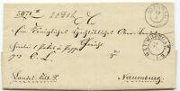 """PREUßEN 1845 """"STENDAL"""" u. """"NAUMBURG a.S."""" K2 sehr dekorativer Kab.-Vorphilabrief"""