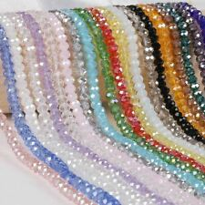 2mm 3mm 4mm 6mm 8mm Rondelle Austria Crystal Beads Faceted Glass Beads