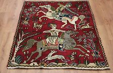 Persian Traditional Vintage Wool 135cmX105cm Oriental Rug Handmade Carpet Rugs