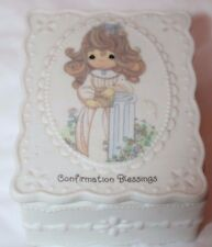 1994 Precious Moments by Enesco Confirmation Blessings Trinket Box w/ Lid