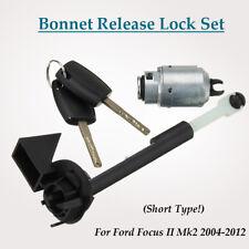 Bonnet Release Lock Latch Catch Set & 2 Keys For Ford Focus Mk2 04-12 C MAX KUGA