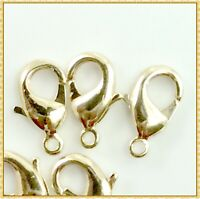 Light Gold Plated Lobster Clasp Jewelry Findings 12mm 15mm 20mm Free Shipping