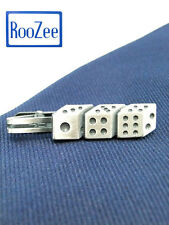 Tie Clip Bar Tie Pin Made in Japan Dice Gamble Unique Tie Clasps & Tacks RooZee