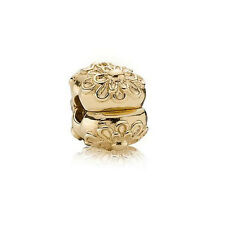 PANDORA | 14K GOLD GOLDEN FLORAL Clip 750806 *NEW* Authentic RETIRED 585 ALE USA