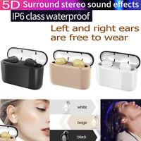 Bluetooth 5.0 Headset TWS Wireless Earphones Twins Earbuds 5D Stereo Headphones