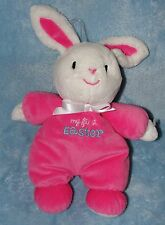 Just One You My First Easter Bunny Rabbit Pink & White Rattle Plush Baby Toy