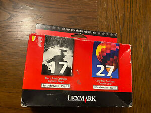 Genuine Lexmark 17 & 27 Black and Color Ink Cartridges Combo Pack Sealed
