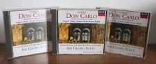 VERDI Don Carlo – 3CD - Sir Georg Solti – Decca 1997 – 455 437-2