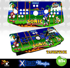 Sonic X Arcade Artwork Tankstick Overlay Graphic Sticker