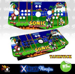 Sonic X Arcade Artwork Tankstick Overlay Graphic Sticker