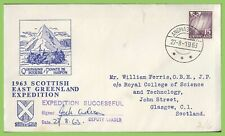 Greenland 1963 Scottish East Greenland Expedition signed commemorative cover