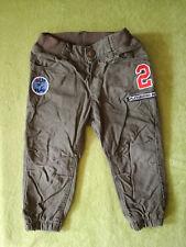 Coole Thermohose Jeans Gr. 92 von H&M LOGG Baumwollfutter Aufnäher khaki