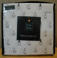 NEW! Cynthia Rowley 3 Piece TWIN XL SHEET SET - GNOMES - 100% Microfiber