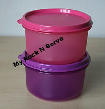 TUPPERWARE(2)  Multi-purpose Snack Dip Serving Center Bowl 14 oz Purple/Pink New