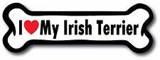 Dog Bone Magnet I Love My Irish Terrier Car Truck Refrigerator Sign Puppy