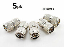 5-PACK N-Type Coax RF Adapter Connector Male/Male Coupler Gender Changer