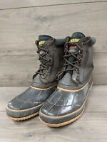 WOLVERINE Mens Duck Boots Sz 10 Leather Upper Waterproof Lace-up Winter Boots