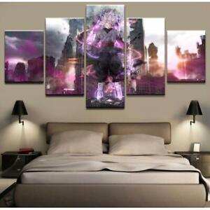 Dragon Ball Z Cartoon Framed 5 Piece Anime Canvas Wall Art Painting Wallpaper Po