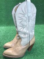 Frye 7044 Womens 6.5 B Western Pull On Heel Tan Leather Cowboy Boots