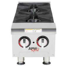 Apw Wyott Ng Heavy Duty 2 Burner Countertop 12 Range Hot Plate 60000 Btu