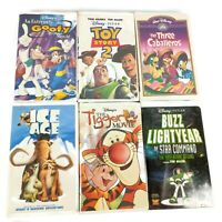Family Night VHS Bundled Lot of 6 Kids Movies Disney Classic Animated Cartoons