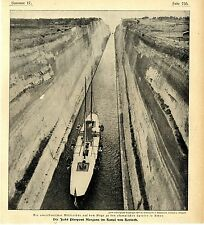 Yacht del US-fervorosamente p. morgan en el canal v. Corinto para olimpiada c.1906