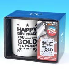 Happy Birthday You Old Git Heat Change Funny Novelty Mug