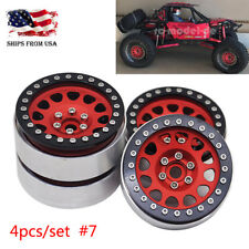 "4Pcs 2.2"" Beadlock Aluminum Wheel Rims For RC Crawler Car Axial Wraith TRX-4 #7"