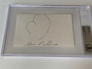 Gene Fullmer Boxing Signed Autograph Glove Sketch Index BAS Beckett