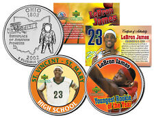 LEBRON JAMES * High School & Rookie of the Year * Ohio Quarters 2-Coin U.S. Set
