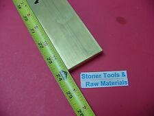 "1/2"" x 2"" C360 BRASS FLAT BAR 24"" long Solid .50"" Plate Mill Stock H02"
