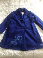 Magnifique Manteau Veste Longue DESIGUAL Bleu Brodé  Taille  44 Neuf