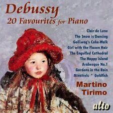 CD DEBUSSY FAVOURITES FOR PIANO TIRIMO CLAIR DE LUNE ARABESQUE 1 GOLLIWOG'S ETC