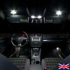 VOLKSWAGEN VW GOLF MK5 MK 5 XENON WHITE ERROR FREE LED INTERIOR LIGHTS BULBS KIT