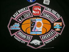 vtg 1998 WOMENS NCAA BASKETBALL FINAL 4 T SHIRT Tennessee Louisiana Tech NOS NWT
