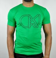 CALVIN KLEIN JEANS CKJ Logo Slim Fit T-Shirt in Green